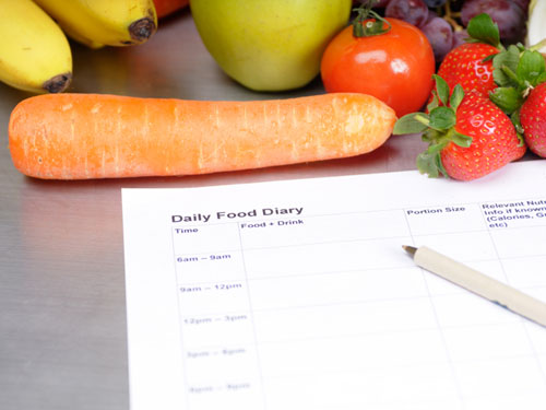 Consistent fat loss with a food diary