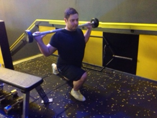 Alternate Barbell Lunges